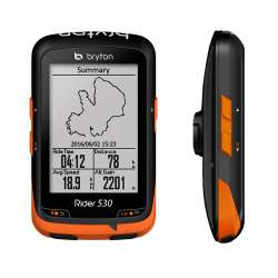 Ciclocomputer Bryton Rider 530 GPS 2018 con Supporto Frontale