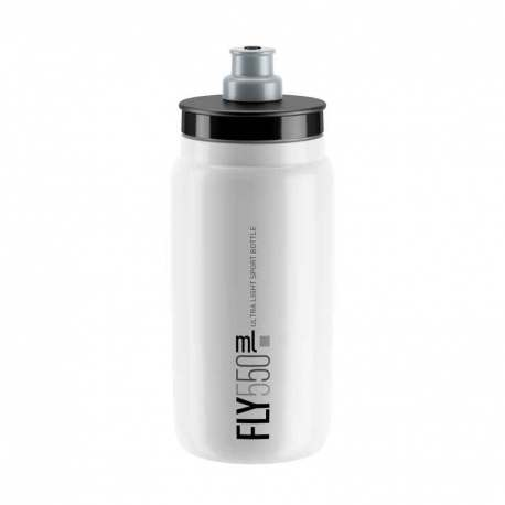 Borraccia Elite Fly White Logo Grey 550ml