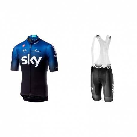 Maglietta Castelli Squadra Team Sky 2019