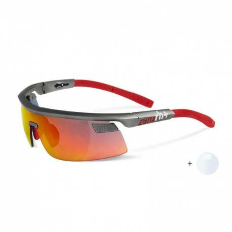 Olympo Triple Fit Interchange Matt Dark Silver - Red + ML Red + Clear