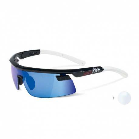 Olympo Triple Fit Interchange Shiny Black - White + ML Blue + Clear