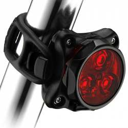 Luce Zecto Drive posteriore a 3 LED - NERO