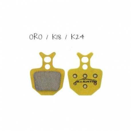 Coppia pastiglie Alligator sinterizzate, compatibili con Formula Oro - K18 - K24