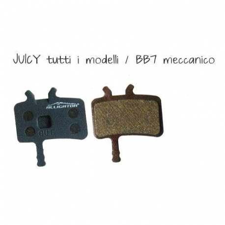 Coppia pastiglie Alligator semi metalliche, compatibili con Avid Juicy tutti i modelli - BB7 meccanico