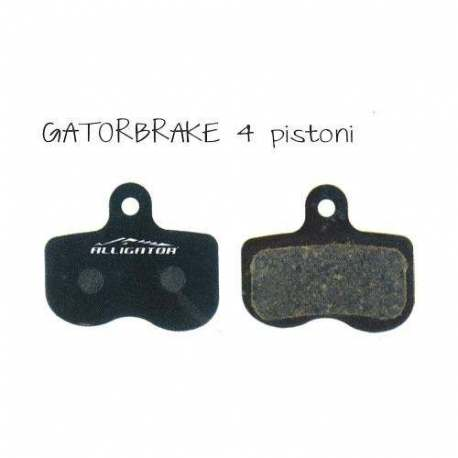 Semi-Metallic Brake Pads Alligator For Gatorbrake 4 Pistons
