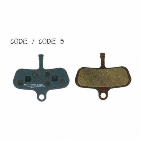Semi-Metallic Brake Pads Alligator For Avid Code