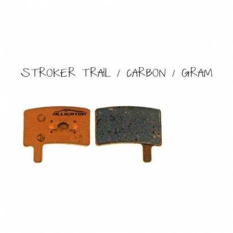 Coppia pastiglie Alligator organiche, compatibili con Hayes Stoker Trail - Carbon - Gram