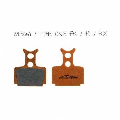 Coppia pastiglie Alligator organiche, compatibili con Formula Mega - The one FR - The one - R1 - RX