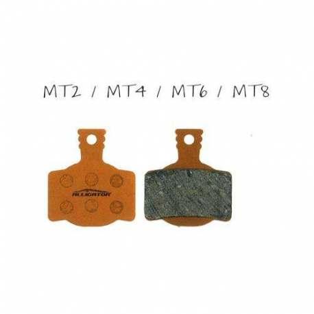 Coppia pastiglie Alligator organiche, compatibili con Magura MT2 - MT4 - MT6 - MT8