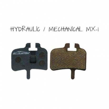 Coppia pastiglie Alligator semi metalliche, compatibili con Hayes-Promax