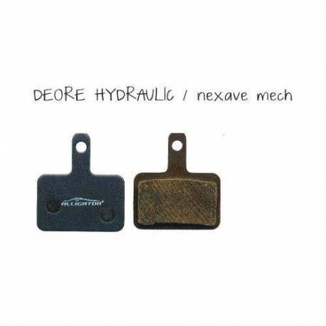 Coppia Pastiglie Semi Metalliche Alligator Per Shimano Deore Idraulico - Nexave Meccanico