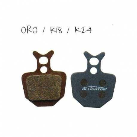 Coppia pastiglie Alligator semi-metalliche, compatibili con Formula Oro - K18 - K24