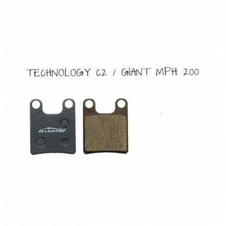 Coppia Pastiglie Semi Metalliche Alligator Per Hope Technology C2