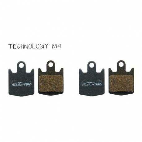 Serie 4pz pastiglie Alligator Semi Metalliche Hope Technology M4