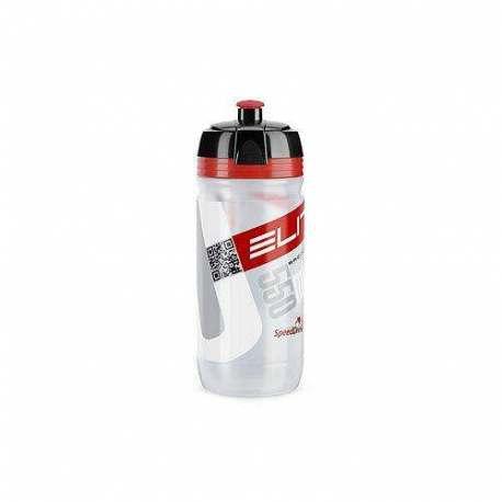 Borraccia corsa Elite Clear Logo Red Bio - 550ml