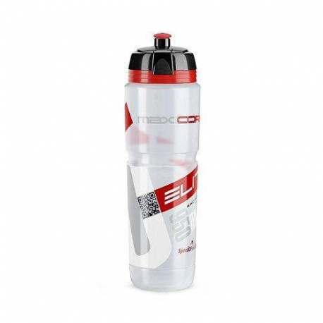 Borraccia maxicorsa Elite Clear Logo Red Bio - 950ml