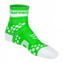 Calzino Compressport Pro Racing FLUO - Verde
