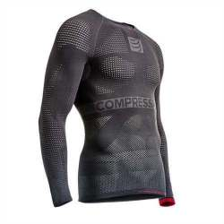 Maglia a maniche lunghe Compressport - ON/OFF MULTISPORT 1ST LAYER - Grigio