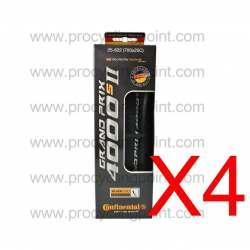Kit 4 pezzi Continental Grand Prix 4000 S II 700x23 Nero Pieghevole