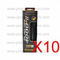 Kit 10 pezzi Continental Grand Prix 4000 S II 700x23 Nero Pieghevole