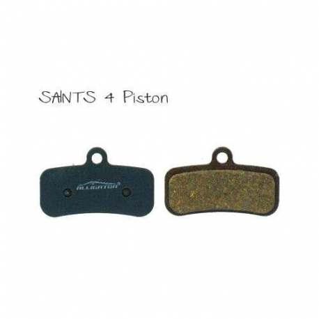 Semi-Metallic Brake Pads Alligator For Shimano Saints 4 Piston