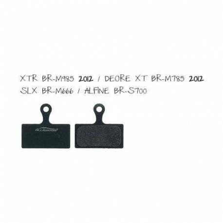 Coppia Pastiglie Semi Metalliche Alligator Per Shimano XTR(BR-M958) - Deore XT(BR-M785) - SLX(BR-M666) Alfine(BR-S7)
