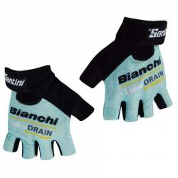 Guanti Santini Team Bianchi Idro Drain 2015