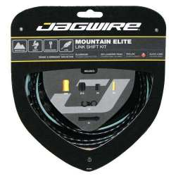 Kit Mountain Jagwire Guaina di Connettori Alluminio e Cavo Cambio Nero