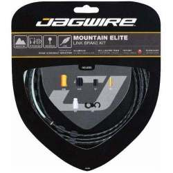 Kit Mountain Jagwire Guaina di Connettori Alluminio e Cavo Freno Nero