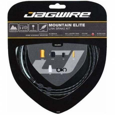 Kit Mountain Jagwire Guaina di Connettori Alluminio e Cavo Freno Nero
