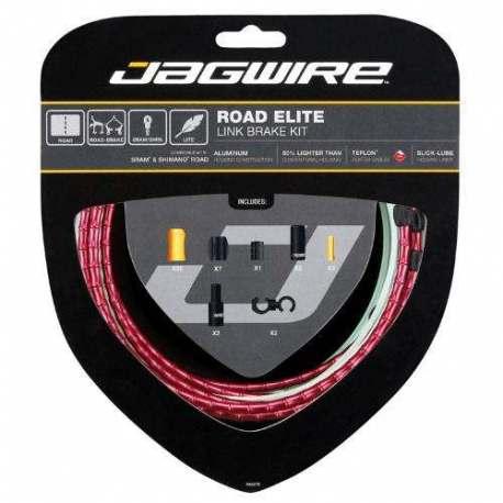 Kit Road Guaina di Connettori Alluminio e Cavo Freno Rosso