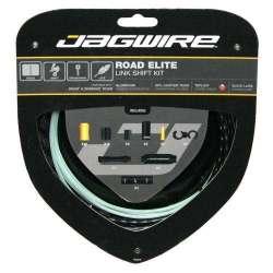 Kit Road Jagwire Guaina di Connettori Alluminio e Cavo Cambio Nero