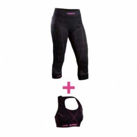 Kit Pantaloncini BVSport Keepfit + Reggiseno BVSport Femina